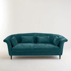 Un revêtement velours aux accents rétro, le canapé Dancie s'adapte à tous les intérieurs et nous invite sans détour à la sérénité !Dimensions du canapé 3/4 places Dancie:Longueur : 225 cm Hauteur : 89 cmProfondeur : 110 cmAssise : L170 x H50 x P68 cmDescription du canapé 3/4 places Dancie:1 coussin d'assise4 coussins d'appointRevêtement :Revêtement velours 90% polyester, 10% coton, 420 g/m², nettoyage à sec possible pour les parties déhoussables (coussins d'assise et d'appoint)Confort…