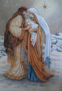 vintage christmas card I always saved my grandma and aunties Christmas card that had the Holy Family. Christmas Scenes, Christmas Nativity, Christmas Past, Christmas Images, Christmas Greetings, Winter Christmas, Christmas Blessings, Illustration Noel, Illustrations