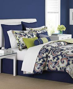 CLOSEOUT! Martha Stewart Collection Bedding, Impulse 6 Piece Full Duvet Cover Set on shopstyle.com