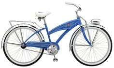 Blue Bicycle. Clip a playing card in the spokes and we are good to go.