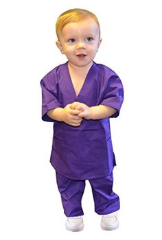 Purple Toddler Scrubs by My Little Doc (24 Months) >>> Details can be found by clicking on the image.