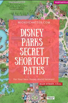 Disney World secret shortcut paths you need to know about in the parks before your next vacation! Learn about the secret shortcut paths in the Disney World parks so you can get around a lot quicker and with less crowds on the paths. Disney World Resorts, Disney World Vacation Planning, Disney World Florida, Disney World Parks, Disney Planning, Disney Vacations, Map Of Disney World, Hotels Around Disney World, Disney World Tours