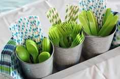 blue and green birthday party - Google Search