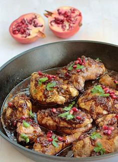 Pomegranate Honey Glazed Chicken
