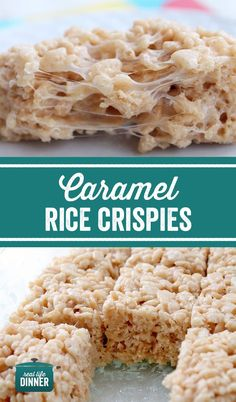 UNBELIEVABLE!!! These Crazy Good Caramel Rice Crispy Treats will rock your world. Best rice crispy I have ever had! Not complicated either, just one additional ingredient. ~ reallifedinner.com