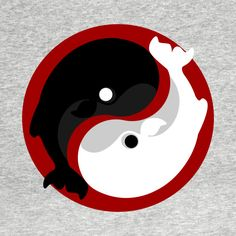 Check out this awesome 'Yin+yang+whale' design on @TeePublic!