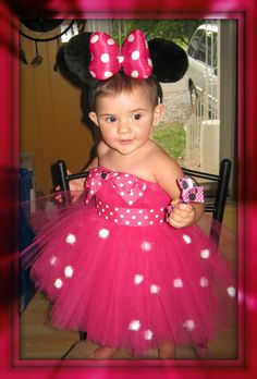 Minnie Mouse Inspired All Tulle Tutu Dress via Etsy