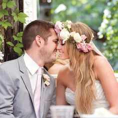 Garden inspired floral crown // photo by: Photo Love Photography