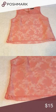 Pink overlay top This dress too is a lovely pink color with a sheer floral pattern overlay. Dorothy Perkins Tops Blouses