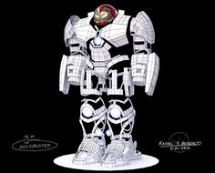 Iron Man Mk. 44 - Veronica (a.k.a. the Hulkbuster) by Rafael Benedicto