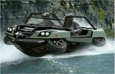 a car that doubles as a boat. genius!