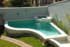 Having a pool sounds awesome especially if you are working with the best backyard pool landscaping ideas there is. How you design a proper backyard with a pool matters. Swimming Pool Landscaping, Small Swimming Pools, Small Backyard Pools, Backyard Pool Designs, Above Ground Swimming Pools, Small Pools, Swimming Pool Designs, In Ground Pools, Backyard Patio