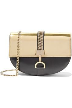 49ef9ea1547d Gold and black leather Magnetic-fastening front flap Weighs approximately  1.5lbs  0.7kg
