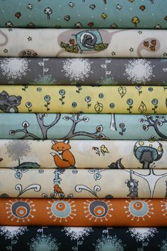 fat quarter bundle of birch fabrics' organic cotton 'scamper' collection (6 x fat quarters)