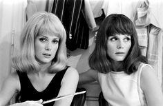 catherine deneuve & older sister françoise dorléac, ca. late 1960s  (françoise died tragically in a car accident in 1967)