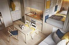 Cada vez mais nas grandes cidades existem apartamentos de pequenas metragens, de 25 ou 30 metros quadrados. Se trata de soluções habitáveis para não desdenhar ninguém. Na verdade, na maioria dos casos, aqueles que vão viver sozinho por várias razões, escolhem o estúdio ou kitnet. Desta forma, também se pode optar por acomodação em uma …