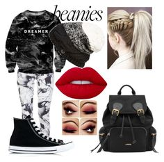 """""""BEANIE!!!"""" by cam122101 ❤ liked on Polyvore featuring Varley, Mr. Gugu & Miss Go, Bench, Converse and Lime Crime"""