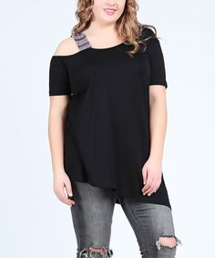 Take a look at this Black Off-Shoulder Tunic today!