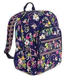 Dillards Vera Bradley Campus Backpack Ribbons 109 Laptop