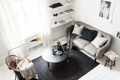 small b&w studio apartment