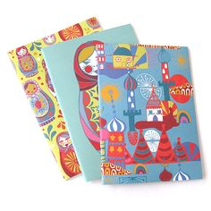 teNeues flexi notebooks with Russian inspired illustrations http://www.tartanandzebra.com/product/EB-TN-50058/Matryoshka+flexi+notebooks+triple+pack