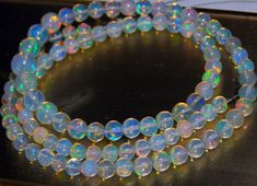 63/%OFF Ethiopian Fair Opal Smooth Beads Round Shape Size 4X3.mm Approx 100 Percent Natural New Arrival Superb Quality Wholesale Price