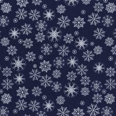 Dear Stella House Designer - Tinsel Town - Snowflakes in Navy