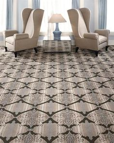 Patterned carpet is not what it used to be! Forget that psychedelic 1970s style that comes to mind when you think of patterned carpet, and replace that image with a smart motif or colorful striped style that functions well as the foundation of a stylish, contemporary home. Mohawk TriOmbre