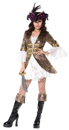 This Buccaneer Beauty costume I carry from Smiffy's is pretty sassy, but I stock costume suitable for corporate events too. Sexy Pirate Costume, Pirate Fancy Dress, Gypsy Costume, Adult Fancy Dress, Pirate Fashion, Fancy Dress Accessories, Pirate Woman, Costumes For Women, Dress Me Up