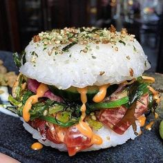 SUSHI BURGER//red eye grill nyc