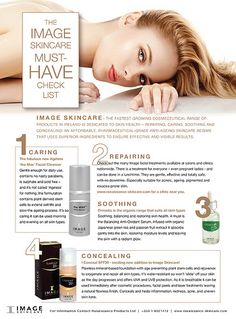 """IMAGE Skincare """"Must have checklist"""" Winter Park Laser uses Image at our medical spa in Orlando-amazing physician grade MD line"""