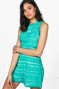 8b33c88c82 Emma Tie Dye Cheesecloth Playsuit