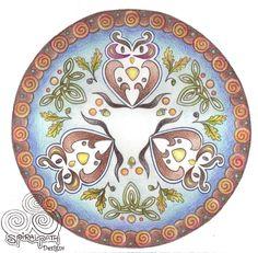 Autumn Owl Mandala by Spiralpathdesigns on DeviantArt