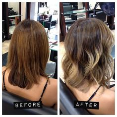 Not ombré, balayage. Wish I had brown hair, cause this style looks much better on brunettes -I think I want to get this done and try it out! I just got my hair cut about this short a few weeks ago and would like to color it! Great idea! #hair #beauty
