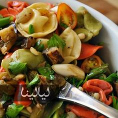 Roasted Eggplant Tortellini Salad: Don't let your Memorial Day guests eat bland, mayo-laden macaroni salad! Best Pasta Salad, Tortellini Salad, Macaroni Salad, Vegetarian Cooking, Vegetarian Recipes, Roast Eggplant, Tasty Dishes, Side Dishes, Casserole Dishes