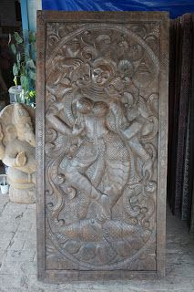 Vastuinteriors Indian Wall Art Vintage Hand Carved Door Panel Indian Wall Art Carved Doors Wall Art