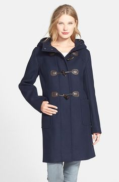 Free shipping and returns on Pendleton Wool Blend Hooded Duffle Coat at Nordstrom.com. Pendleton updates this classic—born of a hearty seafaring heritage—with a slighter longer, trimmer cut that's topped with an oversized hood. Details such as roomy patch pockets, signature plaid partially lining the interior and a trio of toggle closures lend authentic notes.