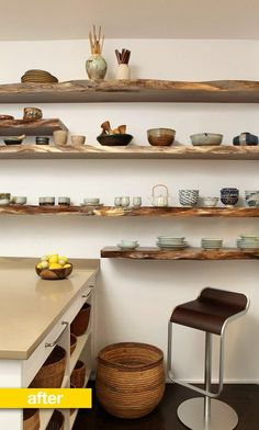 Kitchen Before & After: A Disorganized Kitchen Gets a Place for Everything