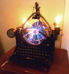 OOAK STEAMPUNK lámpara máquina máquina edad por steampunkmountain