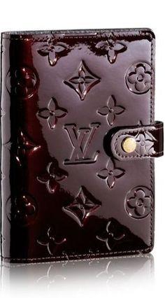 Burgundy (Bordeaux), Louis Vuitton, Glossy Monogram leather.