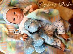 """NEW Reborn Baby Boy 19"""" Doll Cute Mathis Limited Edition Gudrun Legler w/ COA"""