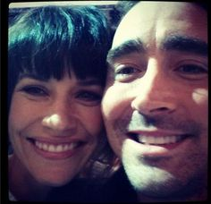 Lee Pace Evangeline Lilly :) Love this. I wanna squeeze right in there!