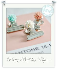 pretty+bulldog+clips 01 Torie Jane Pastel Floral DIY Tutorial BullDog Binder Clips