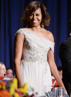 Michelle Obama's Best Looks Ever - 2014 - Marchesa  - from InStyle.com