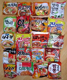 There's so many Ramyeon varieties in Korea. It's hard to pick just one.