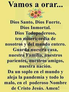 Faith Prayer, God Prayer, Prayer Quotes, Serenity Prayer In Spanish, Catholic Prayers In Spanish, Everyday Prayers, Prayer For Family, Miracle Prayer, Spiritual Words