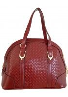 Aubree Bouillon -- Women's Red Leather Handbag $96.95
