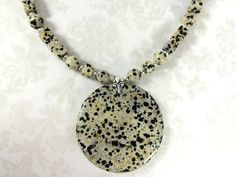 Dalmatian Jasper and Sterling Silver by TheBeadtiqueJewelry