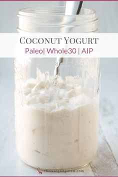 A creamy, thick, dairy-free coconut yogurt made from coconut milk will satisfy that desire for yogurt without making you sick if dairy is a problem! Super easy to make and Paleo, AIP. Paleo Yogurt, Coconut Yogurt Recipe, Coconut Milk Recipes, Yogurt Recipes, Lactose Free Yogurt Recipe, Uses For Coconut Milk, Whole 30 Coconut Milk, Dairy Free Yogurt, Dairy Free Recipes