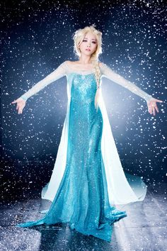 Disney Frozen Snow Queen Elsa,cosplay